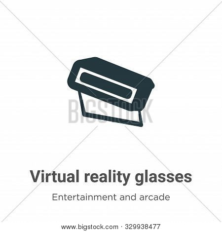 Virtual reality glasses icon isolated on white background from entertainment and arcade collection.