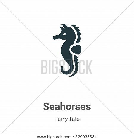 Seahorses icon isolated on white background from fairy tale collection. Seahorses icon trendy and mo