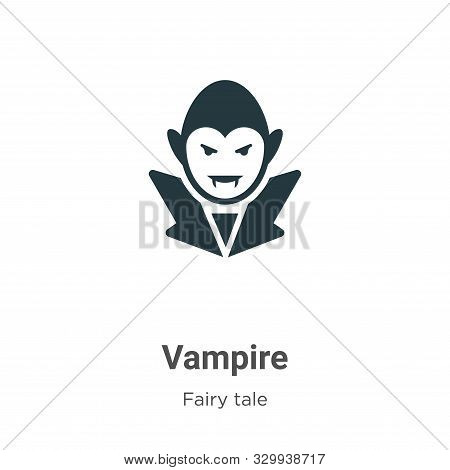 Vampire icon isolated on white background from fairy tale collection. Vampire icon trendy and modern