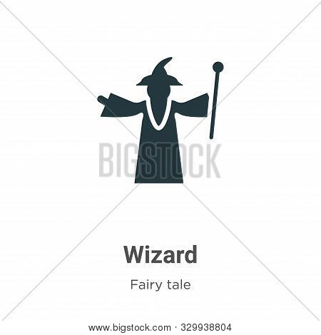 Wizard Vector Icon On White Background. Flat Vector Wizard Icon Symbol Sign From Modern Fairy Tale C