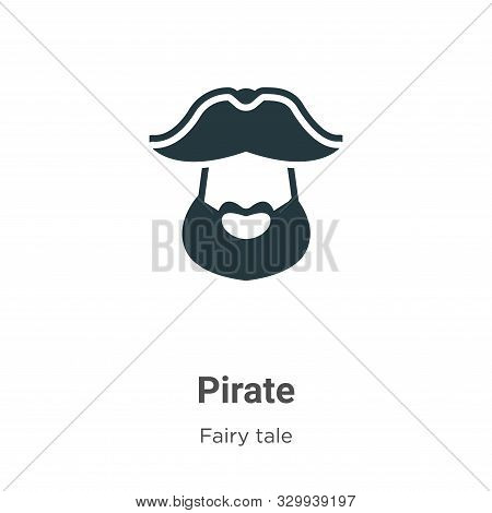 Pirate icon isolated on white background from fairy tale collection. Pirate icon trendy and modern P