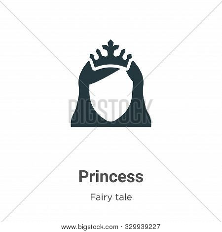 Princess icon isolated on white background from fairy tale collection. Princess icon trendy and mode