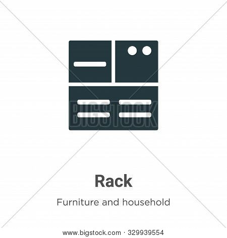 Rack icon isolated on white background from furniture and household collection. Rack icon trendy and