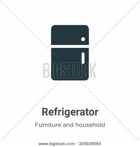 Refrigerator icon isolated on white background from furniture and household collection. Refrigerator