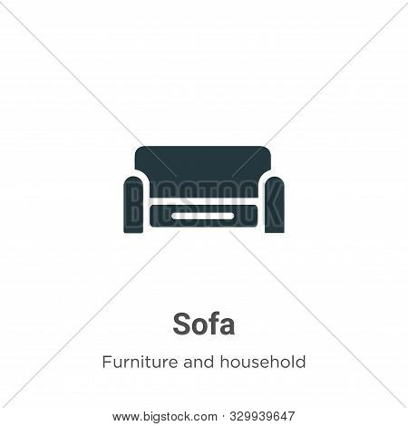 Sofa icon isolated on white background from furniture and household collection. Sofa icon trendy and