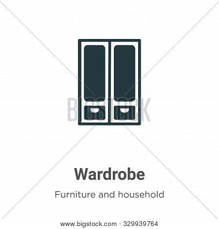 Wardrobe icon isolated on white background from furniture and household collection. Wardrobe icon tr