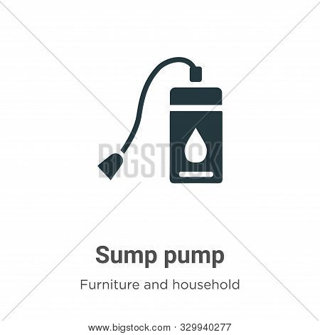 Sump pump icon isolated on white background from furniture and household collection. Sump pump icon