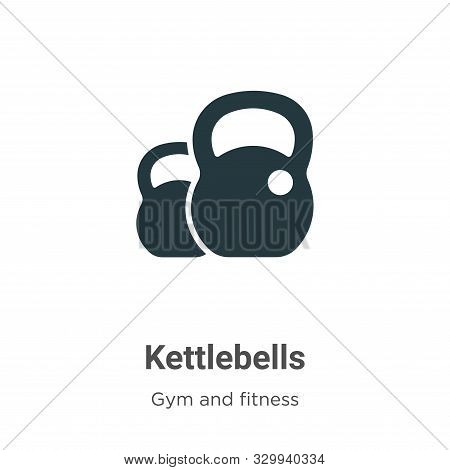 Kettlebells icon isolated on white background from gym and fitness collection. Kettlebells icon tren