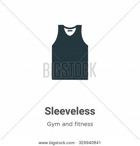 Sleeveless icon isolated on white background from gym and fitness collection. Sleeveless icon trendy