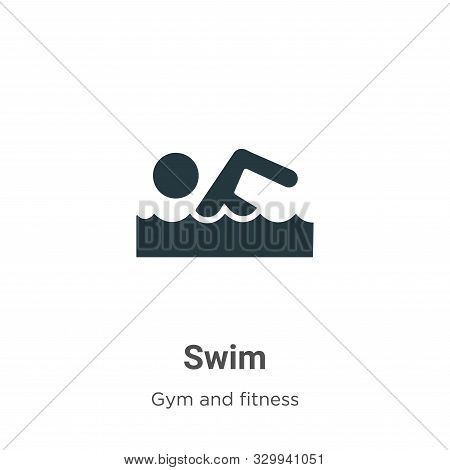Swim icon isolated on white background from gym and fitness collection. Swim icon trendy and modern