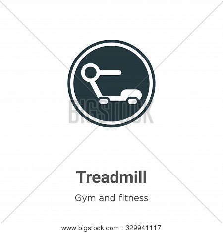 Treadmill icon isolated on white background from gym and fitness collection. Treadmill icon trendy a