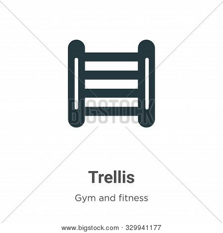 Trellis Vector Icon On White Background. Flat Vector Trellis Icon Symbol Sign From Modern Gym And Fi