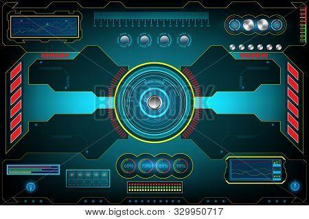 Technology Futuristic Interface Screen. Element Digital Design Innovation Hi-tech Ai, Ui Background