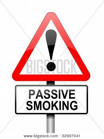 Passive Smoking Concept.