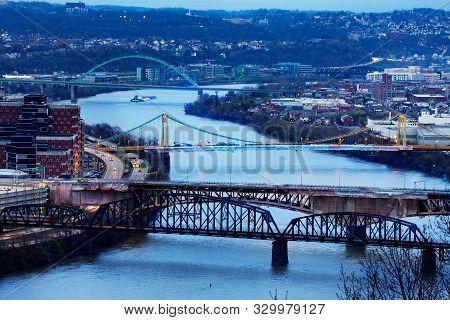 Panhandle Liberty South Tenth Bridges At Night