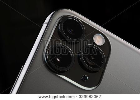 Minsk, Belarus - October, 26, 2019 New Space Gray Iphone 11 Pro Max
