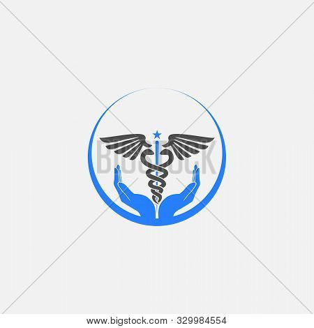 Creative Circle Medical Logo Vector Template For Hospitality.