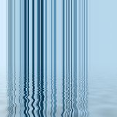 Blue vertical line pattern with simulated water reflection poster