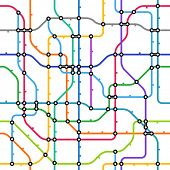 Abstract color metro scheme seamless background poster