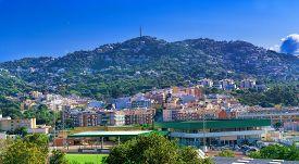 Spanish City On The Hills At Summer. Lloret De Mar, Spain