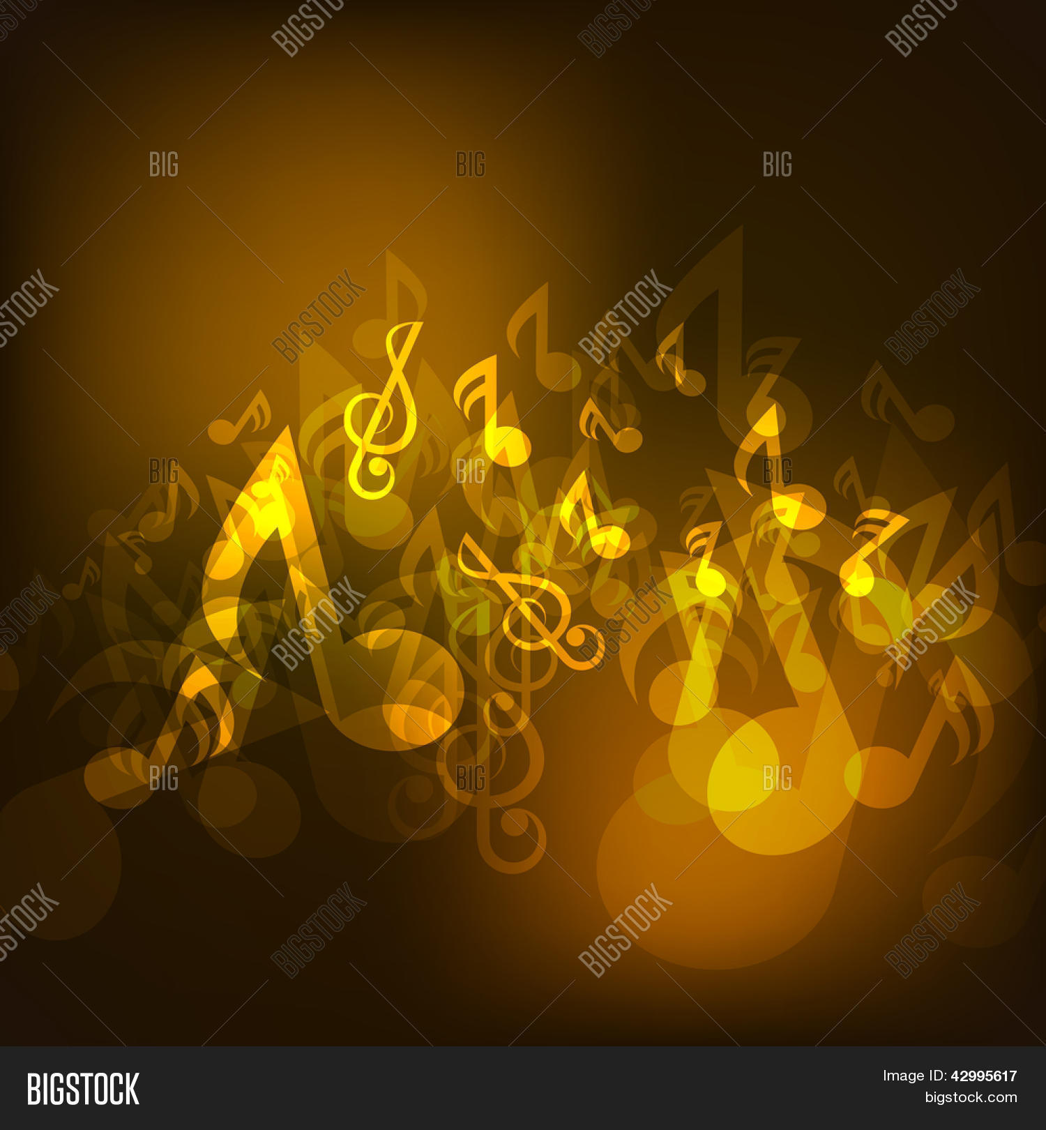Suficiente Shiny Musical Notes Background, Vector & Photo   Bigstock KE03