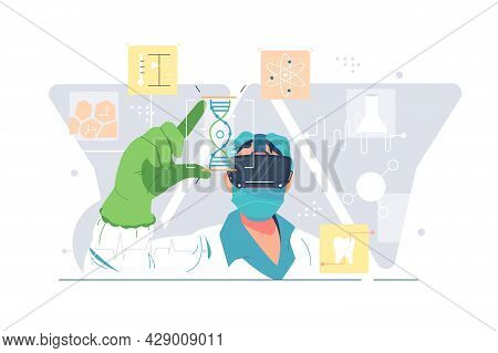 Inspiration Boost And Innovative Business Idea Vector Illustration. Formula, Discover In Lab Flat St