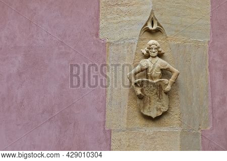 Colmar, France, June 27, 2021 : Old Architectural Detail. City Has A Rich Architectural Heritage, In