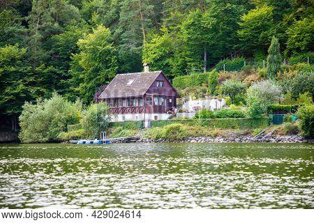 Small House On Lake Slapy, Bohemia, Czech Republic, Europe