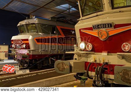 Mulhouse, France, June 26, 2021 : Trans Europe Express In Cité Du Train (train City), Formerly Named