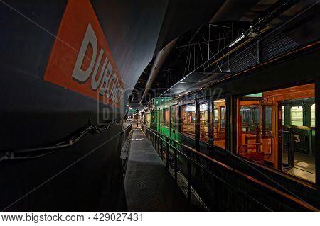 Mulhouse, France, June 26, 2021 : Old Undergound Line. La Cité Du Train (train City), Formerly Named