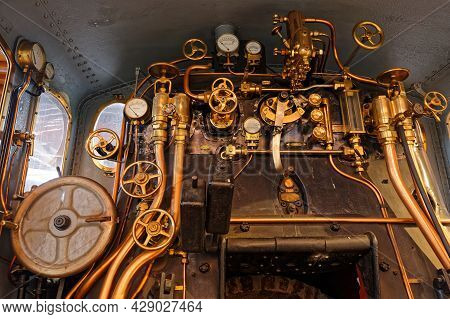 Mulhouse, France, June 26, 2021 : Dials In La Cité Du Train (train City), Formerly Named French Rail