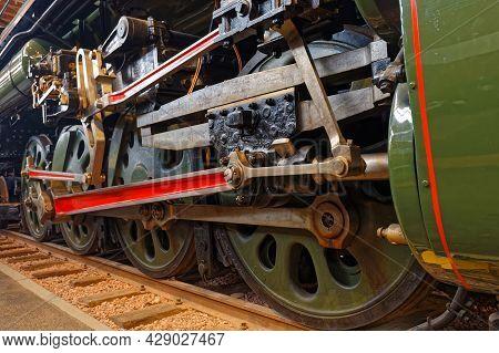 Mulhouse, France, June 26, 2021 : La Cité Du Train (train City), Formerly Named French Railway Museu