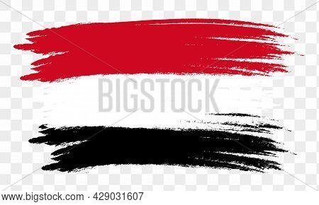 Egypt flag . Egypt flag icon, Egypt flag vector, Egypt flag isolated, Egypt flag images, abstract national flag of Egypt. vector illustration
