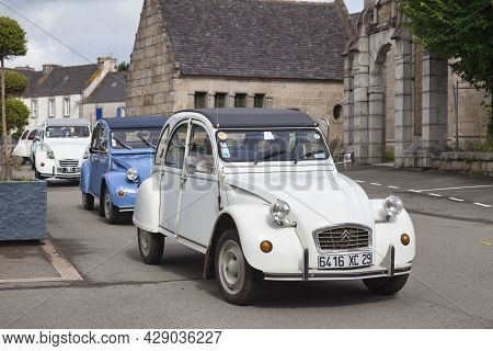 Pleyber-christ, France - July 04 2021: The Citroën 2cv (french: Deux Chevaux) Is An Economy Car Intr