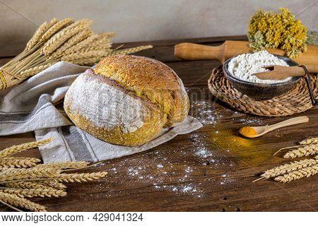 Homemade Crispy Turmeric Bread