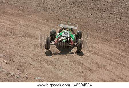 a rc model car 1/10 buggy 4 wd - off road race for radio controlled car with electric engine poster