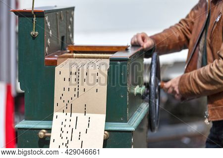 A Roller Organ (also Called Barrel Organ Or Crank Organ) Is A French Mechanical Musical Instrument C