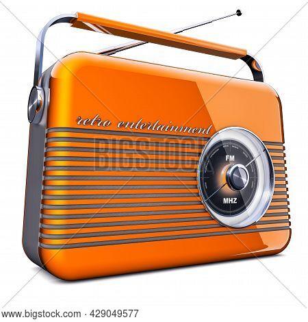 3d Illustration Of An Vintage Portable Radio