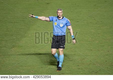Rio, Brazil - August 04, 2021: Anderson Daronco Referee In Match Between Vasco Vs Sao Paulo By Brazi