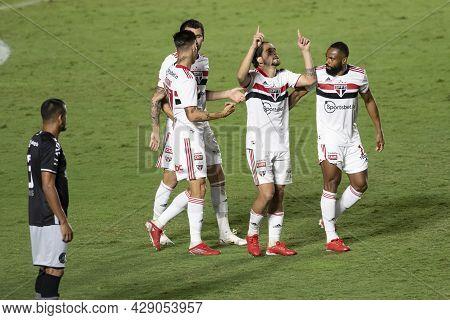 Rio, Brazil - August 04, 2021: Benitez Player Celebrate In Match Between Vasco Vs Sao Paulo By Brazi
