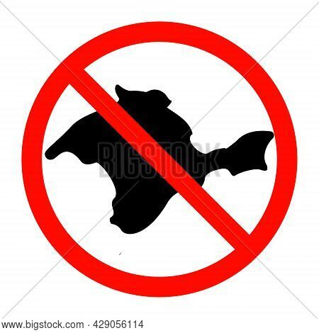 Prohibition Sign On The Silhouette Of The Crimea Peninsula For Printing And Laser Cutting.vector Ill