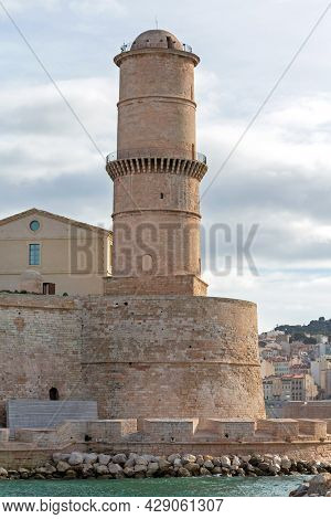 Tour Du Fanal Fort Tower In Marseille France