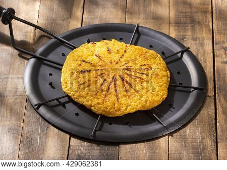 Arepa Chocolo On The Grill - Traditional Colombian Food