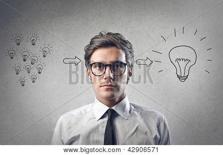 young businessman has an idea