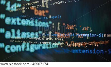Computer Script. Software Background. Source Code Photo. Website Programming Code. Programmer Develo