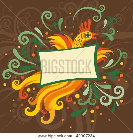 Birthday card with bird
