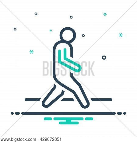 Mix Icon For Walk Iteration Itinerancy Trek Pace Tempo Gait Ploy Footstep Walking Haste