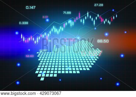 Stock Market Background Or Forex Trading Business Graph Chart For Financial Investment Concept Of So
