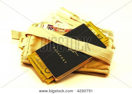Passport With Money Bag