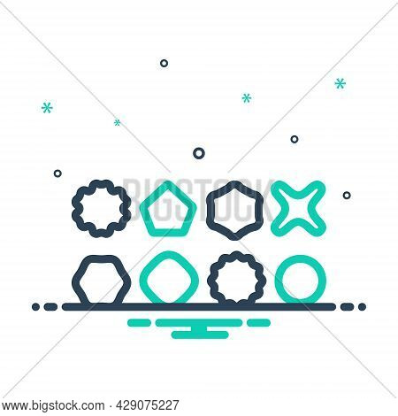 Mix Icon For Variety Different Shape Type Structure Math Variation Miscellaneousness